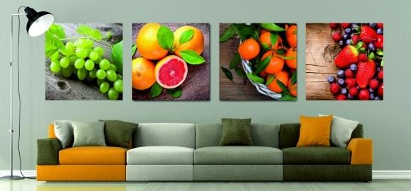 Большие предметы на картине в маленькой комнатушке сделают ее еще более маленькой визуально