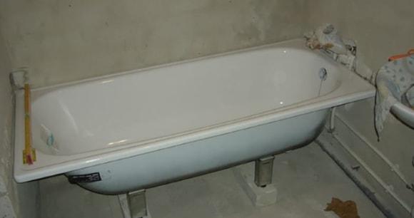 Высота ванны с ножками