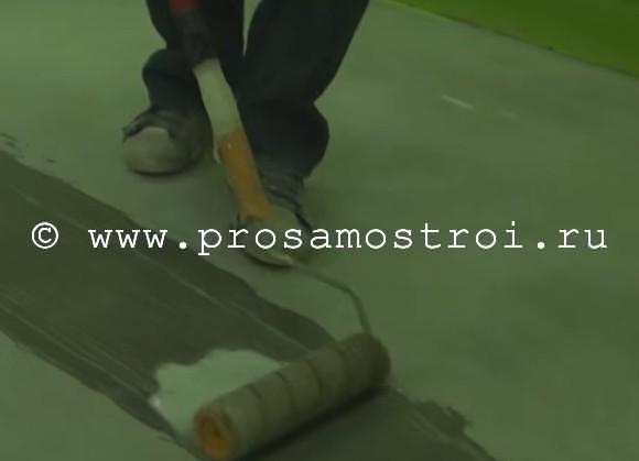 Грунтуем поверхность бетона