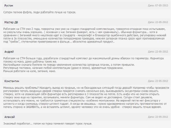 Реальные отзывы покупателей о российской фурнитуре для пластиковых окон СТН