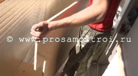 Утепляем балкон пенофолом и влагостойкой фанерой