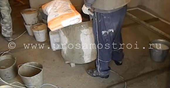 Песчано-цементная смесь для стяжки пола