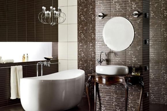 Гармоничная плитка фиджи в ванной