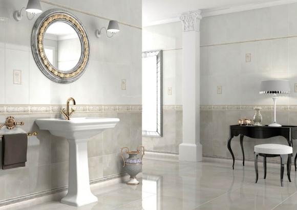 Керамический плинтус в ванной