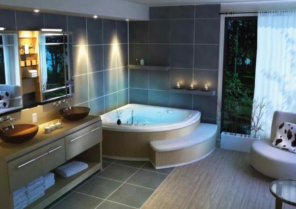 Джакузи в совмещенной ванной