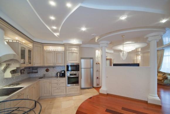 Перегородки из гипсокартона между кухней и гостиной