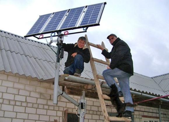 Солнечная батарея из множества фотоэлементов
