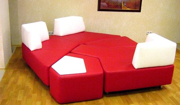 Фото стильной мягкой модульной мебели для современной гостиной