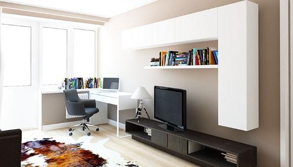 Компьютерный столик в составе модульной композиции гостиной