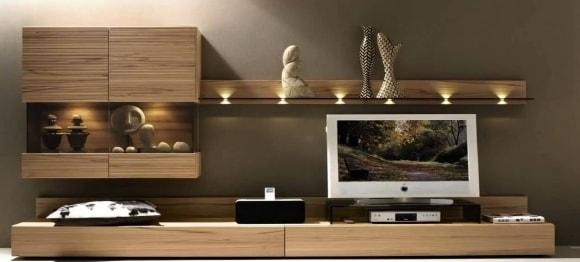 Корпусная модульная мебель для гостиной комнаты в современном стиле