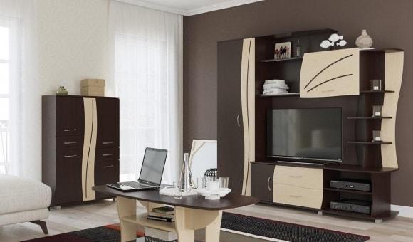 Модульная мебель эконом класса для гостиной в современном стиле