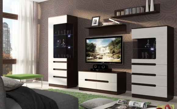 Модульная мебель эконом класса для маленькой гостиной в современном стиле