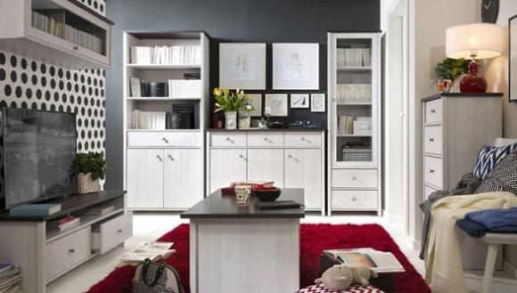 Современная светлая модульная мебель для гостиной комнаты
