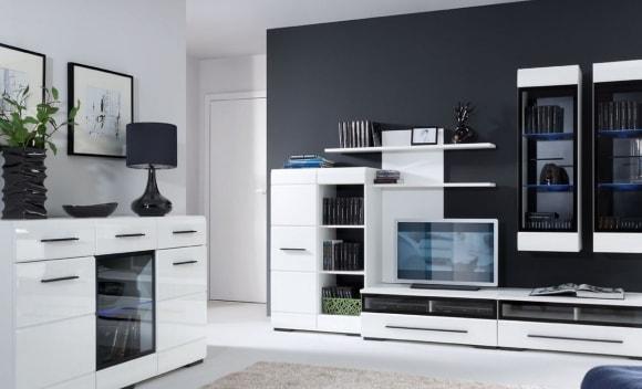 Светлая модульная мебель для современной гостиной