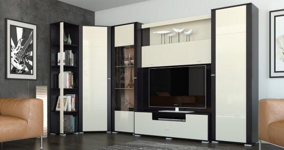 Угловая модульная мебель для гостиной