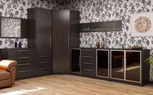 Угловая модульная мебель в современном стиле для гостиной комнаты