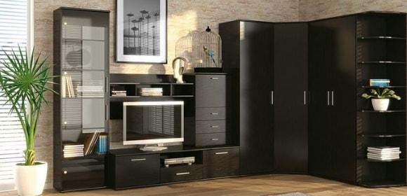 Угловая модульная мебель в современном стиле для гостиной
