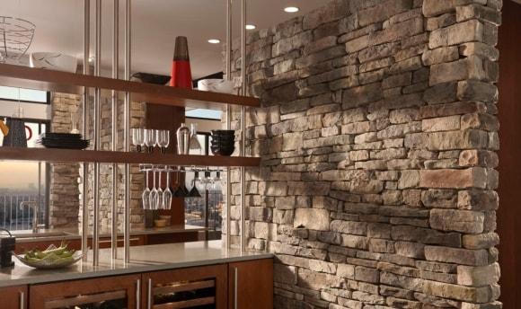 Декоративные панели под камень для внутренней отделки