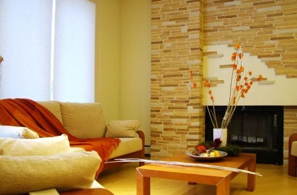 Декоративный камень для внутренней отделки в интерьере фото