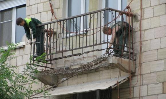 Капитальный ремонт балконов и лоджий на фото