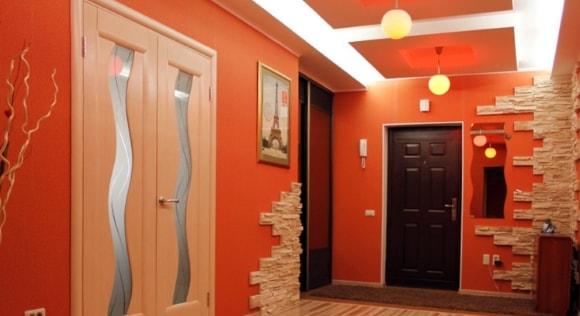 Отделка углов искусственным камнем в квартире