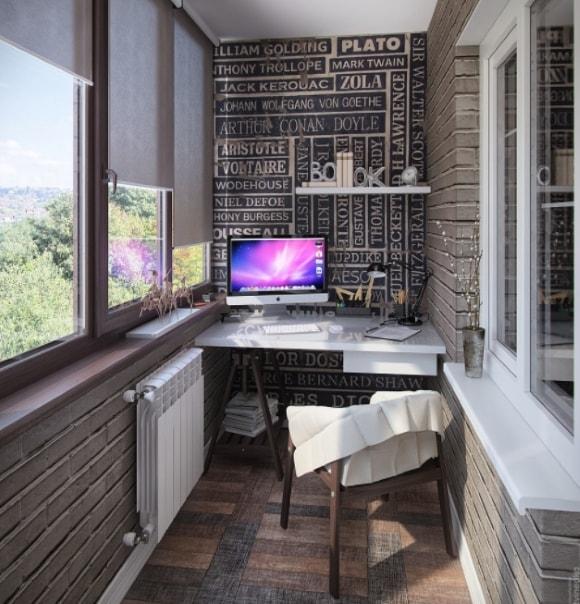 Рабочее место на балконе и лоджии