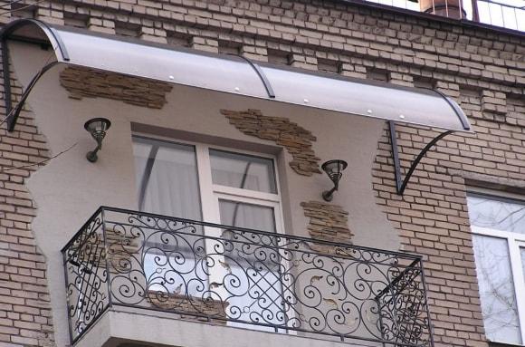 Ремонт козырька балкона или лоджии своими руками фото