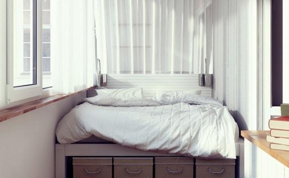 Спальные места на балконе