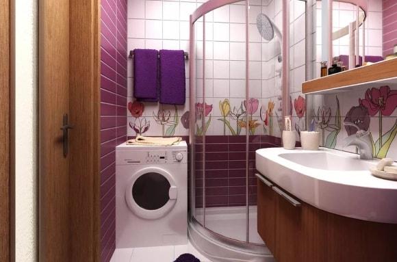Дизайн ванной комнаты размером 3 кв. метра