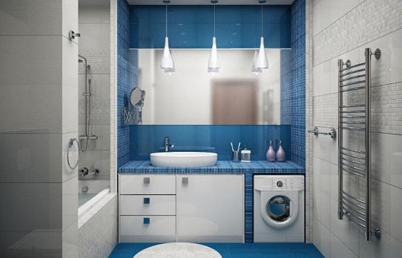 Дизайн ванной комнаты размером 5 кв. метра
