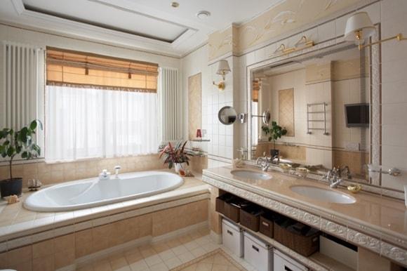 Дизайн ванной комнаты в частном доме/коттедже