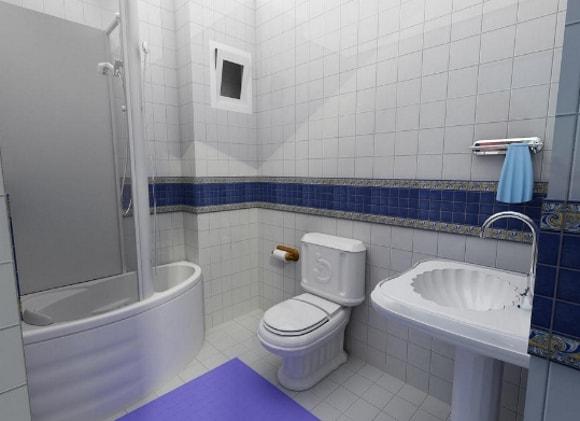 Душевая кабина с туалетом без ванны