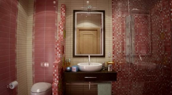 Душевая зона с туалетом без ванны в ванной комнате