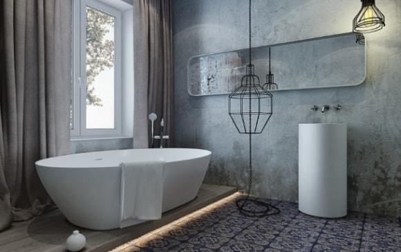 Стильные идеи дизайна ванных комнат 2018