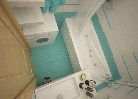 Ванная комната 3 кв. метра
