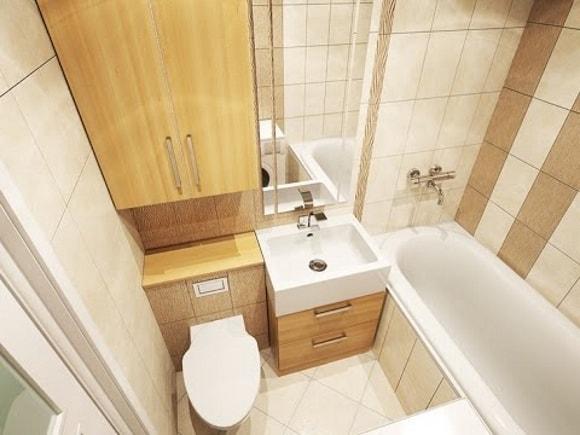 Ванная комната 4 кв. метра
