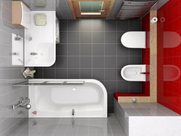 Ванная комната 5 кв. метра