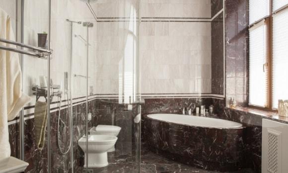 Ванная комната под мрамор