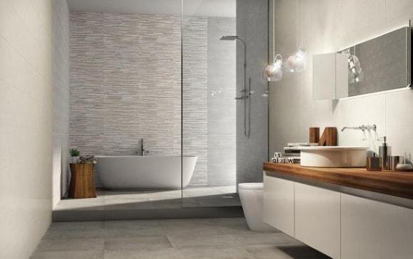 Ванная комната с душевой перегородкой