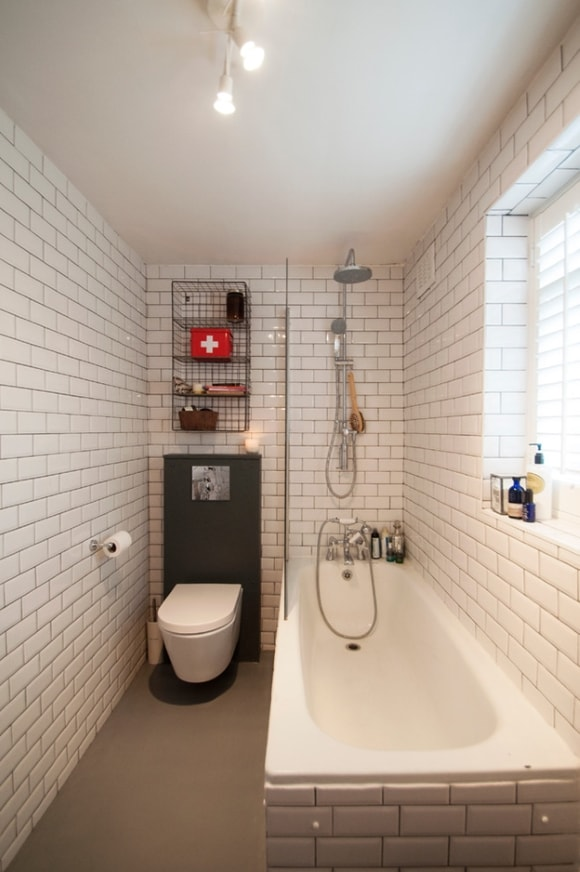 Ванная комната узкой формы