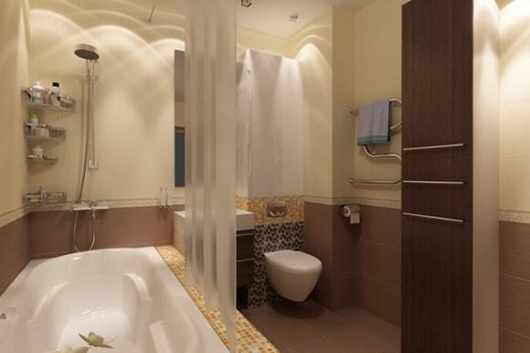 Вариант отделки ванной комнаты в обычной квартире/панельном доме