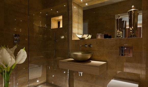 Варианты дизайна отдельных деталей интерьера ванных комнат