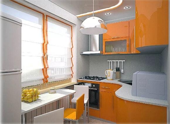 Дизайн очень маленькой кухни 3 на 3