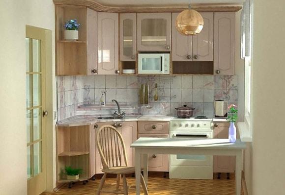 Дизайн очень маленькой кухни 4 на 4