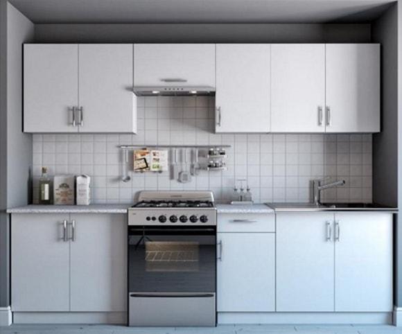 Дизайн прямой кухни