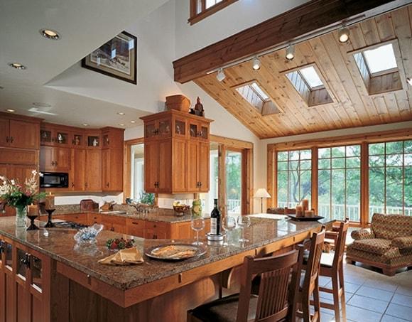 Интересная идея для отделки кухни в деревянном доме/даче