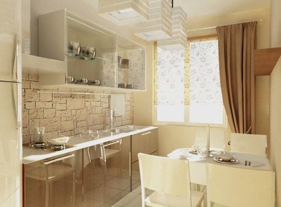 Интересная идея для отделки кухни в двухкомнатной квартире/панельном доме