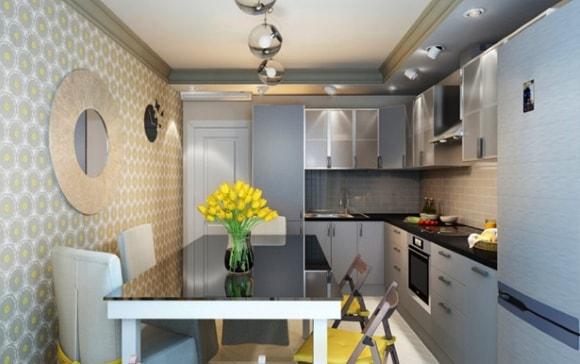 Кухня в двухкомнатной квартире/панельном доме