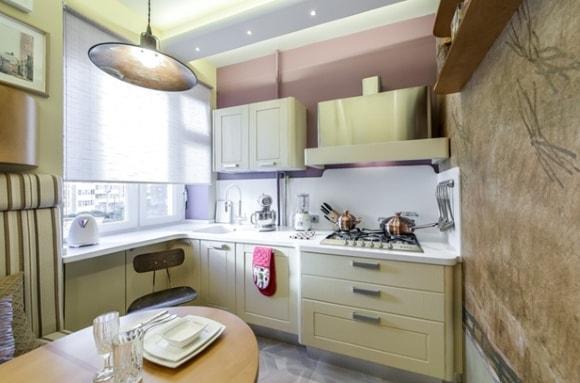 Вариант дизайна штор на кухне
