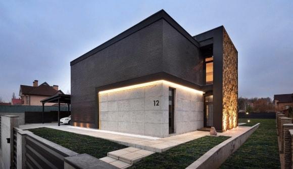 Частный дом в стиле лофт снаружи